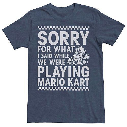 Men's Nintendo Mario Kart Sorry For What I Said Tee