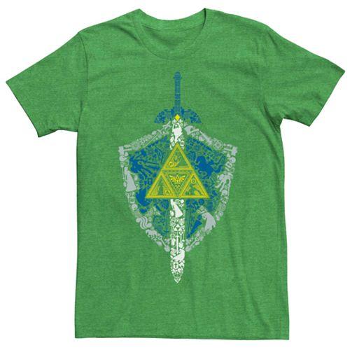 Men's Nintendo Legend Of Zelda Shield And Sword Short Sleeve Tee