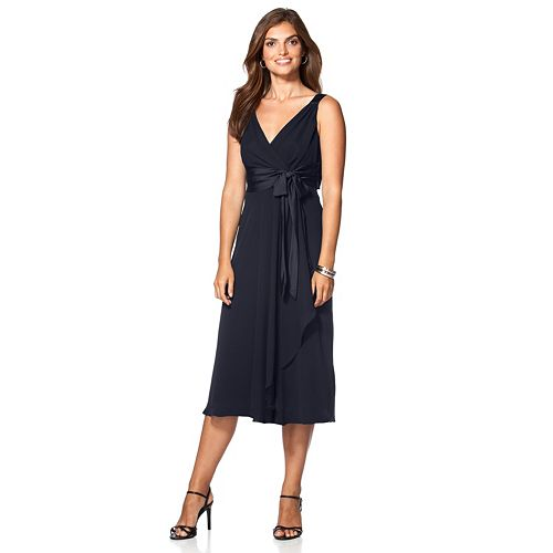Women's Chaps Surplice Empire Evening Dress