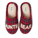 Women's Dearfoams Auntie Bear Plaid Clog Slippers
