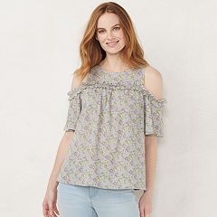 4901d445af6ac4 Womens LC Lauren Conrad Cold Shoulder Tops, Clothing | Kohl's