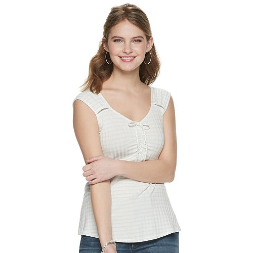 Juniors' Candie's® Ruched Front Tank Top