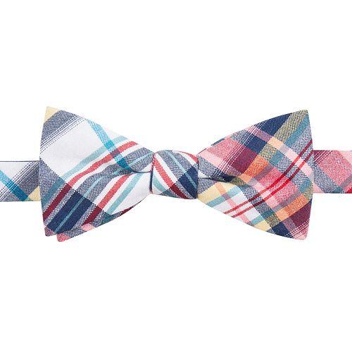 Men's Chaps Patterned Linen-Blend Pre-Tied Bow Tie