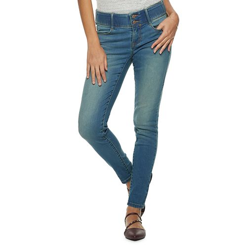 Women's Apt. 9® Tummy Control Midrise Skinny Jeans by Apt. 9