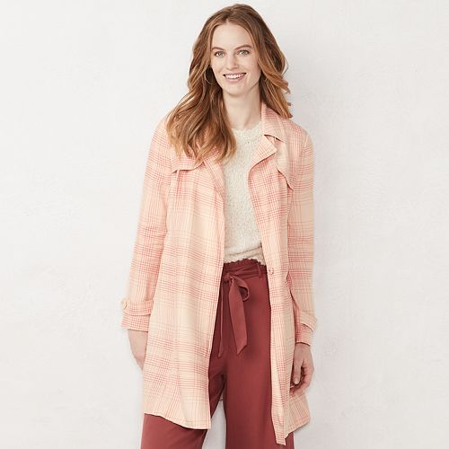 Women's LC Lauren Conrad Cropped Trench Jacket