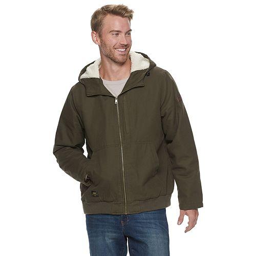 Men's Skechers® Sherpa Lined Workwear Hooded Jacket