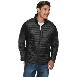 Men's Skechers Modern-Fit Fleece Mixed Media Jacket