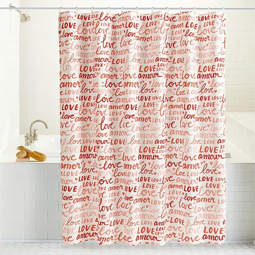 Celebrate Valentine's Day Together Love Shower Curtain