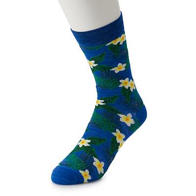 Men's Novely Print Crew Socks