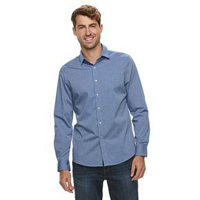 Men's Apt. 9® No-Iron Stretch Button-Down Shirt