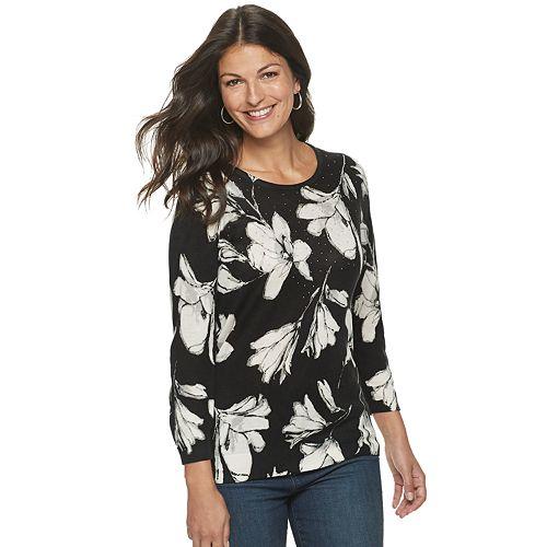 Women's Cathy Daniels Floral Sweater