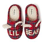 Unisex Kid's Dearfoams Lil Bear Plaid Clog Slippers