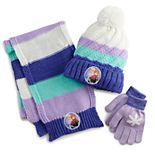 Girls Disney's Frozen Hat, Gloves, and Scarf Set
