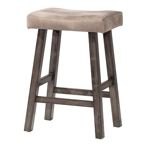 Hillsdale Furniture Saddle Backless Bar Stool