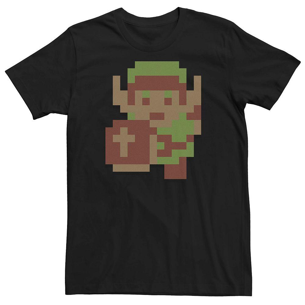 Men's Nintendo Legend Of Zelda Link Pixel Retro Tee