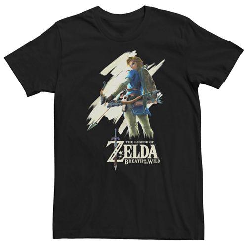 Young Men's Nintendo Legend Of Zelda Breath Of The Wild Paint Swipe Link Tee