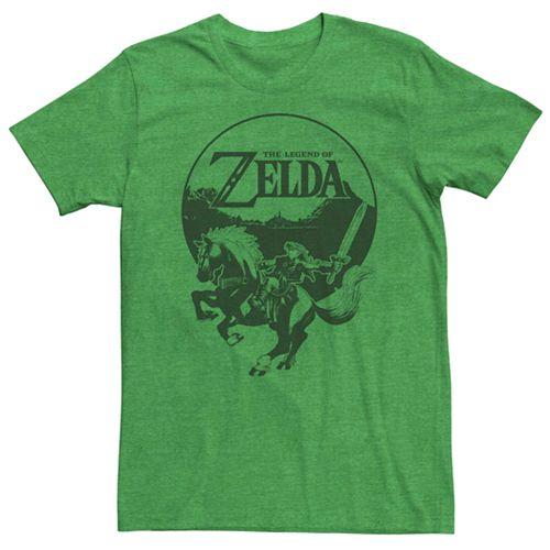 Young Men's Nintendo Legend Of Zelda Link Epona Circle Portrait Tee