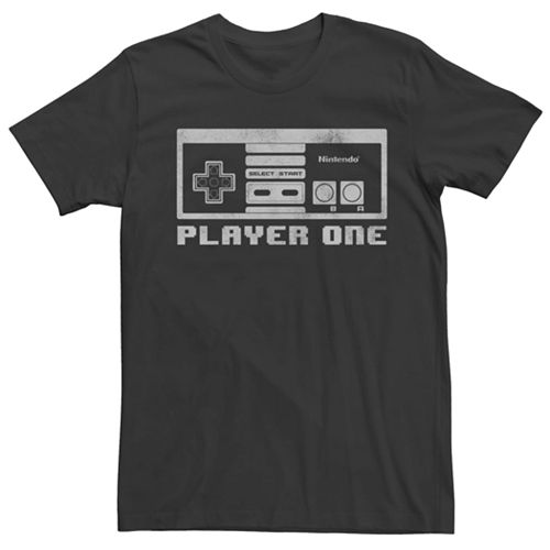 Men's Nintendo NES Controller Player One Short Sleeve Tee