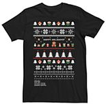 Men's Nintendo Super Mario Bros Ugly Christmas Sweater Tee