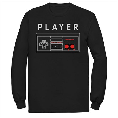 Men's Nintendo NES Controller Player Long Sleeve Tee
