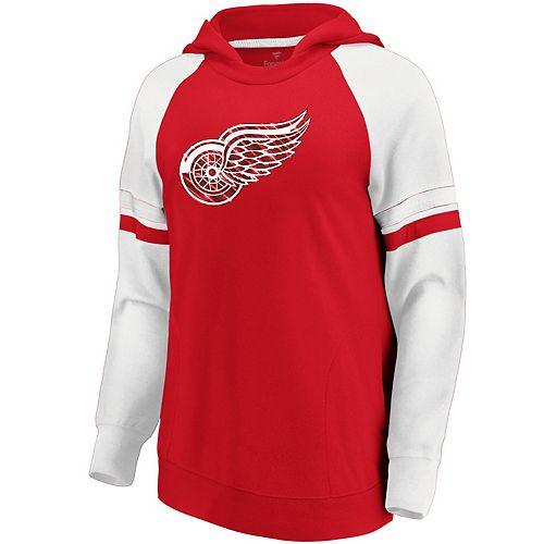 Women's Detroit Red Wings Colorblocked Hoodie