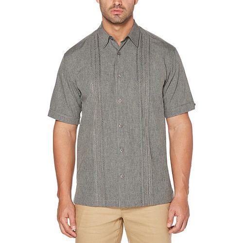 Big & Tall Cubavera Polyester Chambray Tuck Shirt