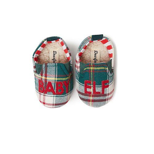 Dearfoams Baby Elf Closed Back Slippers