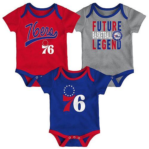Baby Philadelphia 76ers 3-Piece Bodysuit Set