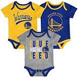 Baby Golden State Warriors 3-Piece Bodysuit Set