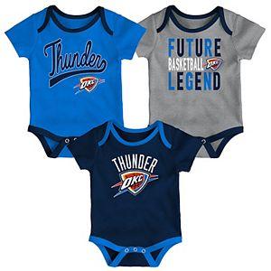 Baby Oklahoma City Thunder 3-Piece Bodysuit Set