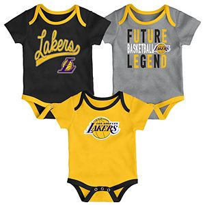 Baby Los Angeles Lakers 3-Piece Bodysuit Set