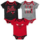 Baby Chicago Bulls 3-Piece Bodysuit Set