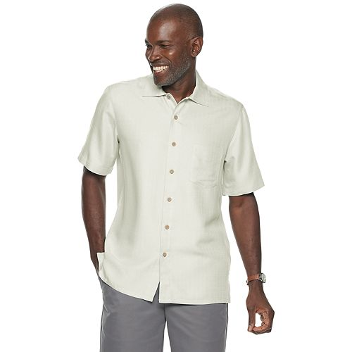 Men's Batik Bay Textured Solid Button-Down Shirt