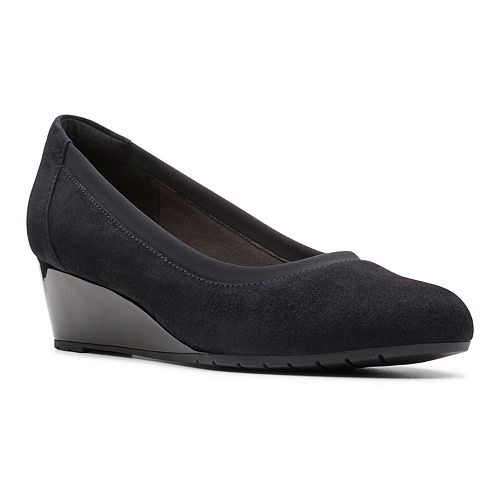 Clarks Mallory Berry Women's Ballet Wedge Shoes