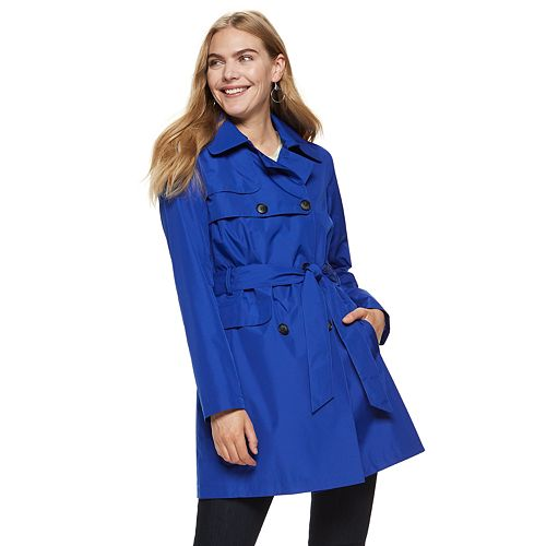 Women's Nine West Double-Breasted Trench Coat