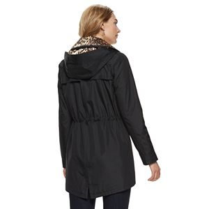 Women's Nine West Bonded Zip Front Anorak Parka