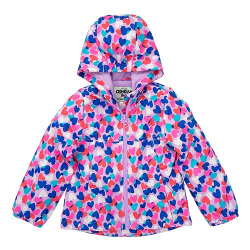 Baby Girl OshKosh B'gosh® 12M-24M Heart Print Fleece Lined Jacket