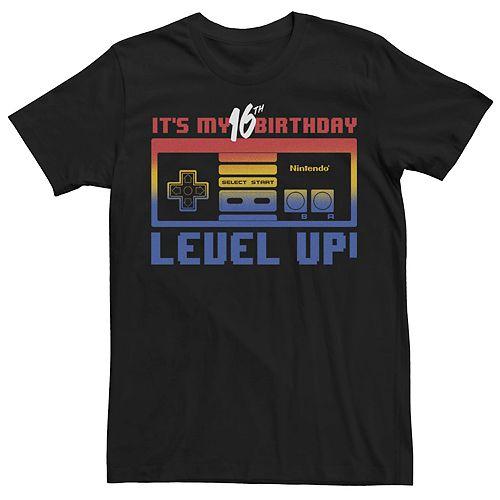 Men's Nintendo My 16th Birthday Level Up Tee