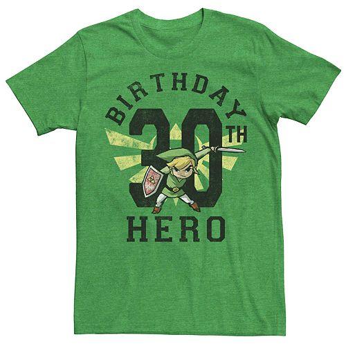 Men's Nintendo Legend Of Zelda 30th Birthday Hero Tee