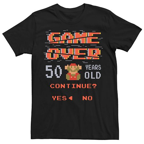 Men's Nintendo Super Mario 50th Birthday Retro Tee