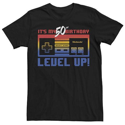 Mens Nintendo 50th Birthday Level Up Tee