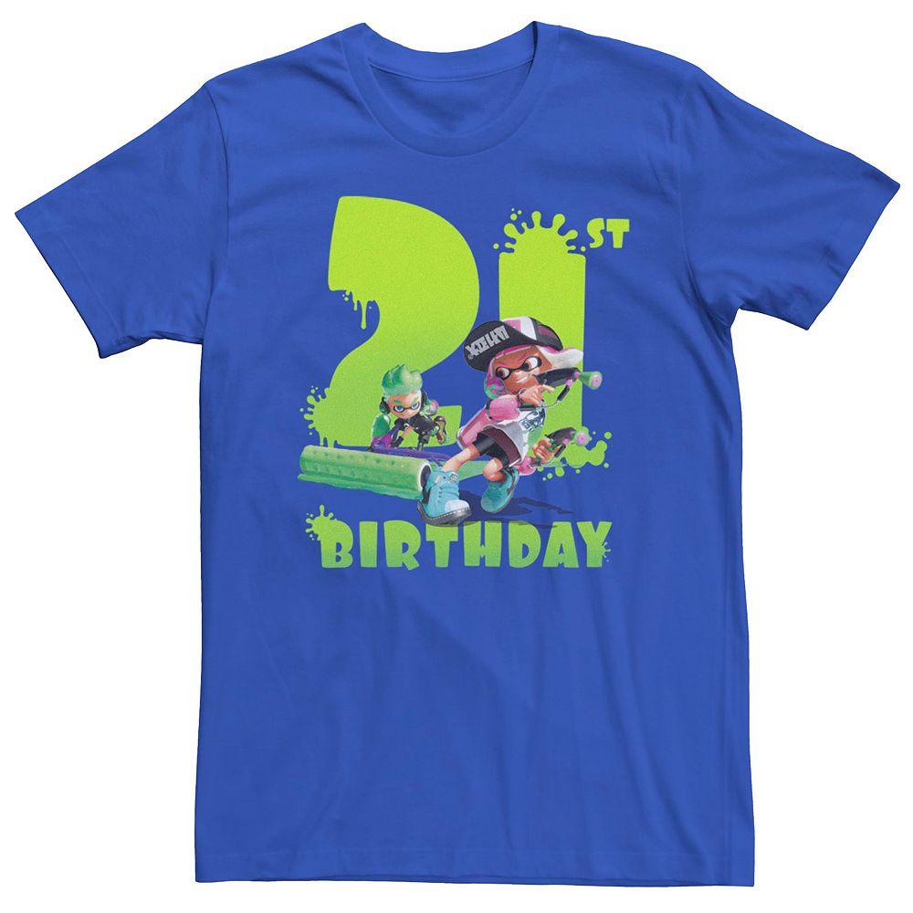 Men's Nintendo Splatoon 21st Birthday Tee
