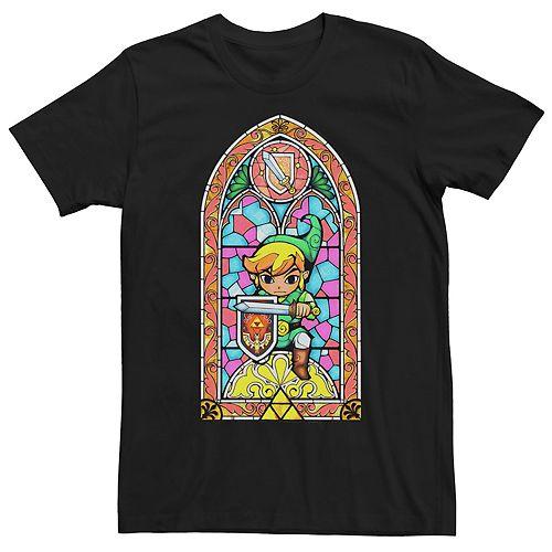 Men's Nintendo Legend Of Zelda Link Stained Glass Tee