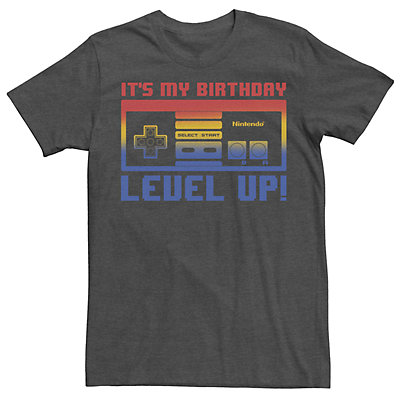 Men's Nintendo NES Controller Birthday Level Up Tee