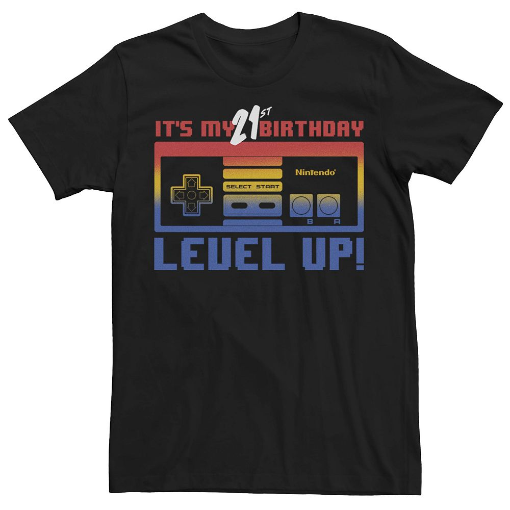 Men's Nintendo 21st Birthday Level Up Tee