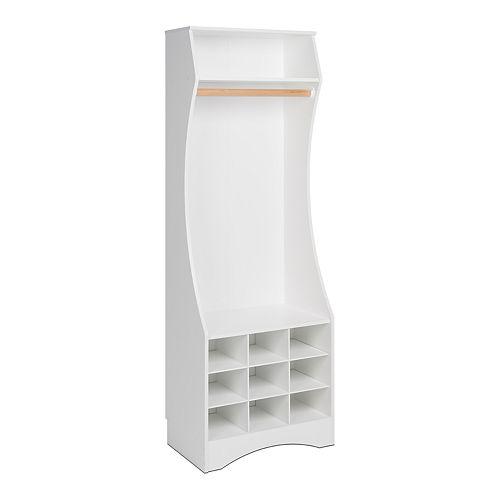 Prepac White Compact Wardrobe with Shoe Storage