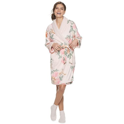 Women's Flora by Flora Nikrooz Cozy Robe with Socks