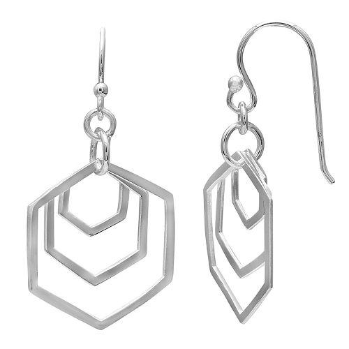 PRIMROSE Sterling Silver Geometric Drop Earrings