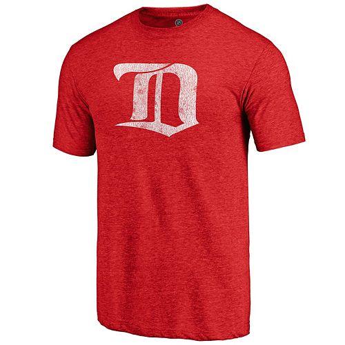 Men's Detroit Red Wings Distressed Logo Tee