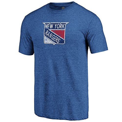 Men's New York Rangers Distressed Logo Tee
